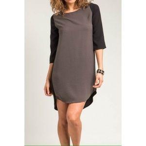 ultrachicfashion.com Dresses - Asymmetrical Colorblock Dress